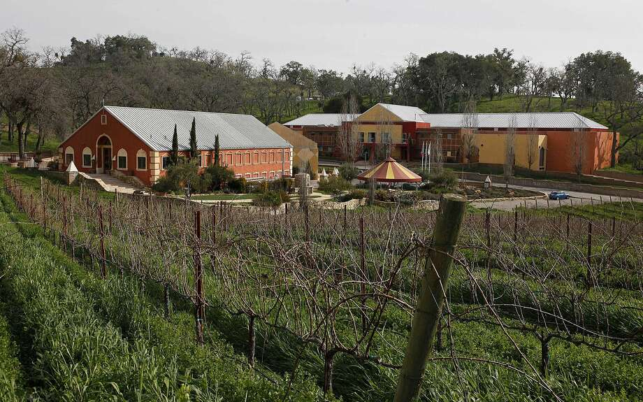 This Feb. 2, 2010, photo shows Justin Vineyards and Winery in Paso Robles, a Central California winery hailed as one of the best in the country. It is seeing fallout after it clear-cut hundreds of old oak trees to make way for more vineyards. Photo: Eric Risberg, Associated Press