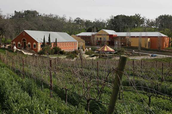 File - This Feb. 2, 2010 file photo shows Justin Vineyards and Winery in Paso Robles, Calif. Justin Vineyard and Winery, a Central California winery hailed as one of the best in the country, is facing boycott calls and enforcement actions after it clear-cut hundreds of old oak trees to make way for more vineyards. (AP Photo/Eric Risberg, File)