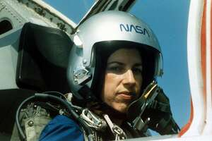 1993: NASA astronaut Ellen Ochoa during training at Vance Air Force base in Houston, TX., 1993. (Photo by NASA/Liaison)