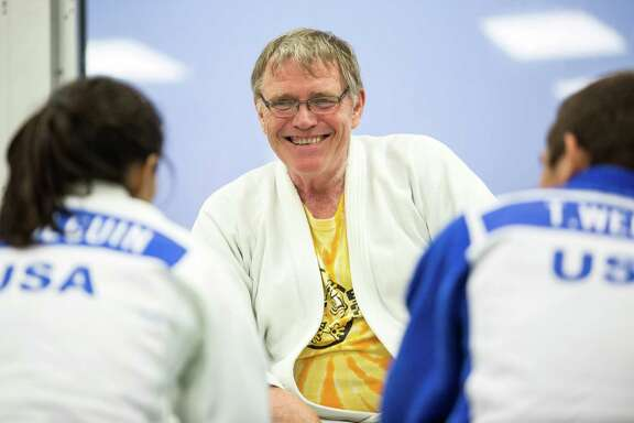 Coach Jack Hrbek smiles after the junior practice at Universal Judo on June 22, 2016, in San Antonio. Hrbek has more than 40 years of coaching experience and has coached more than 90 national champions.