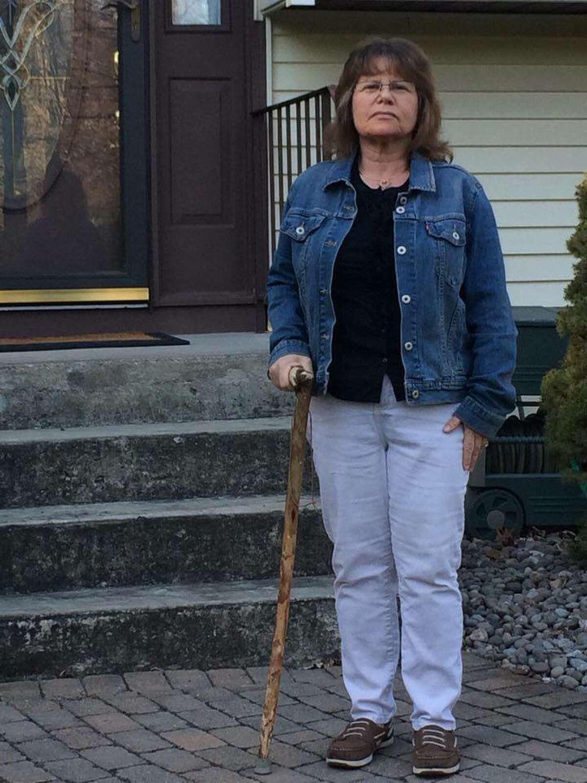 Debra Hall, outside of her home. (Photo courtesy Debra Hall)