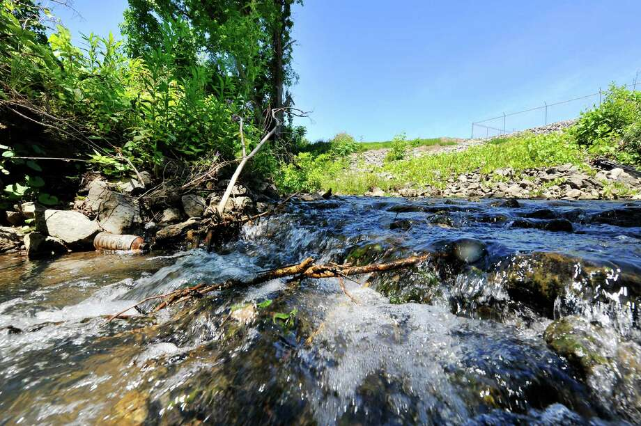 Water flows along a Patroon Creek tributary behind the former Mereco manufacturing plant on Railroad Avenue, seen here on Wednesday, June 15, 2016, in Albany, N.Y.   (Paul Buckowski / Times Union) Photo: PAUL BUCKOWSKI / 40036977A