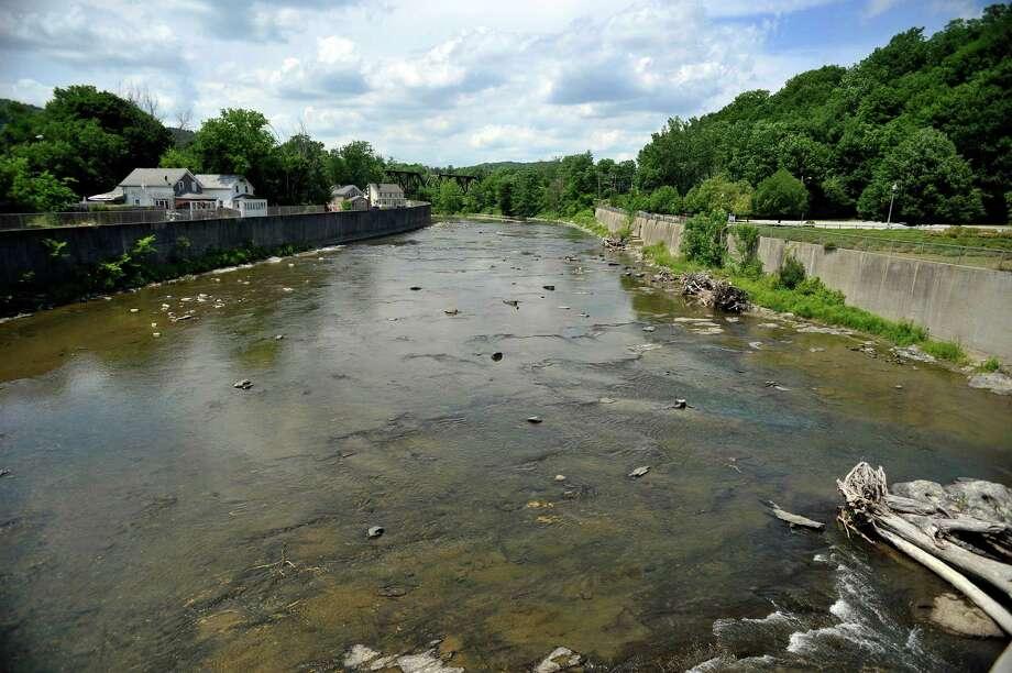 A view of the Hoosic River on Tuesday, June 28, 2016, in Hoosick Falls, N.Y.    (Paul Buckowski / Times Union) Photo: PAUL BUCKOWSKI / 40037143A