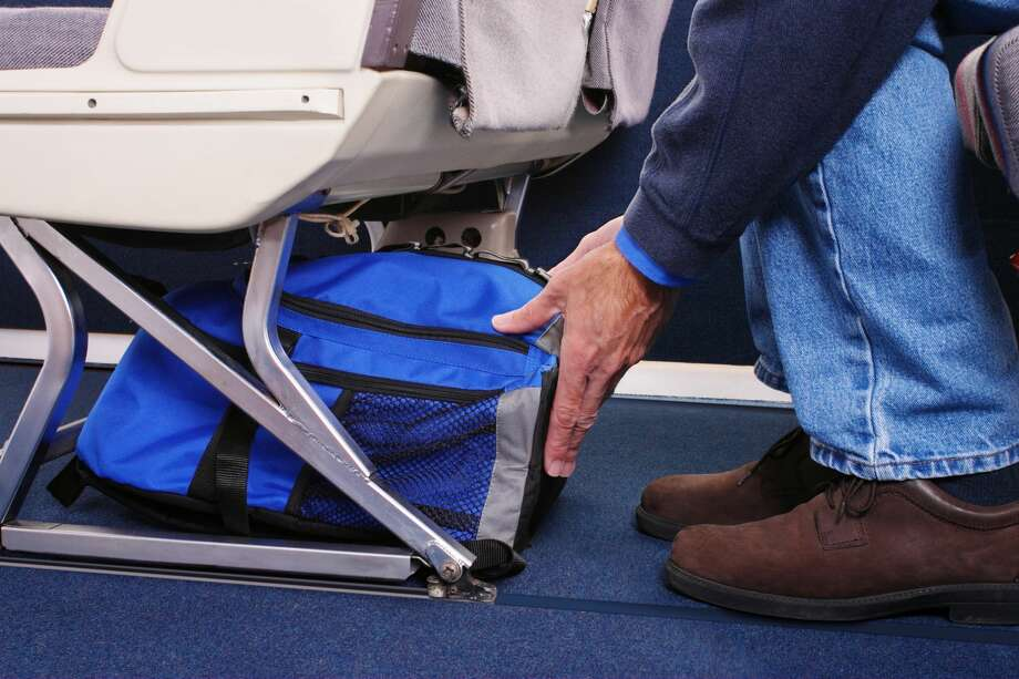 When airlines say one personal item and one carry-on, please keep in mind that a tuba is not a personal item and that the bulging duffel should not exceed carry-on dimensions.Look up your airline's baggage limits for carry-on _ they differ depending on the airline _ by finding your airline's baggage policy. Then take a gander at the weight/dimension limits for checked bags, which tend to be more generous.You don't want to check anything you must have (medicine, your car keys, Christmas presents), but at least you can pack your bulky winter items so they're not springing from the sides of your carry-on. Photo: Gene Chutka/Getty Images