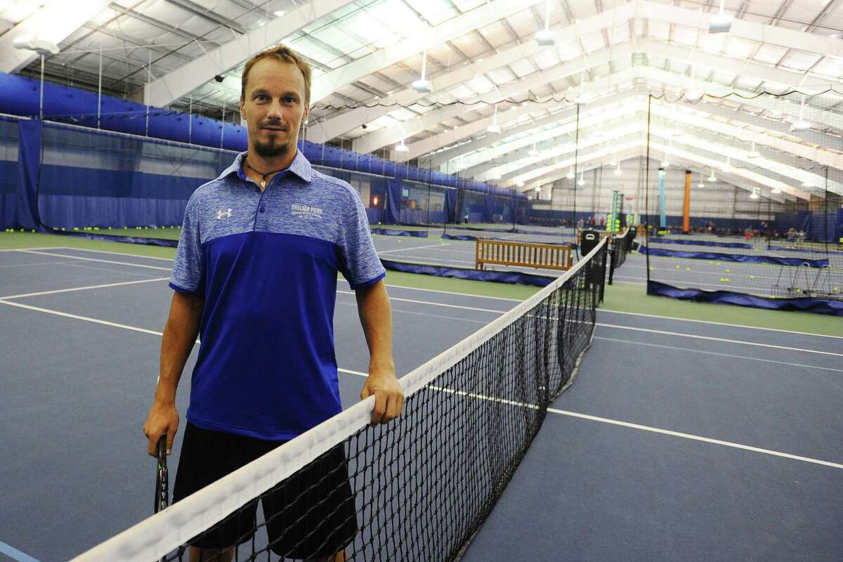 Radoslaw Szymanik, a tennis pro at Chelsea Piers in Stamford, will be a coach on Poland's Summer Olympics tennis team. Photographed at Chelsea Piers on Thursday, June 30, 2016.