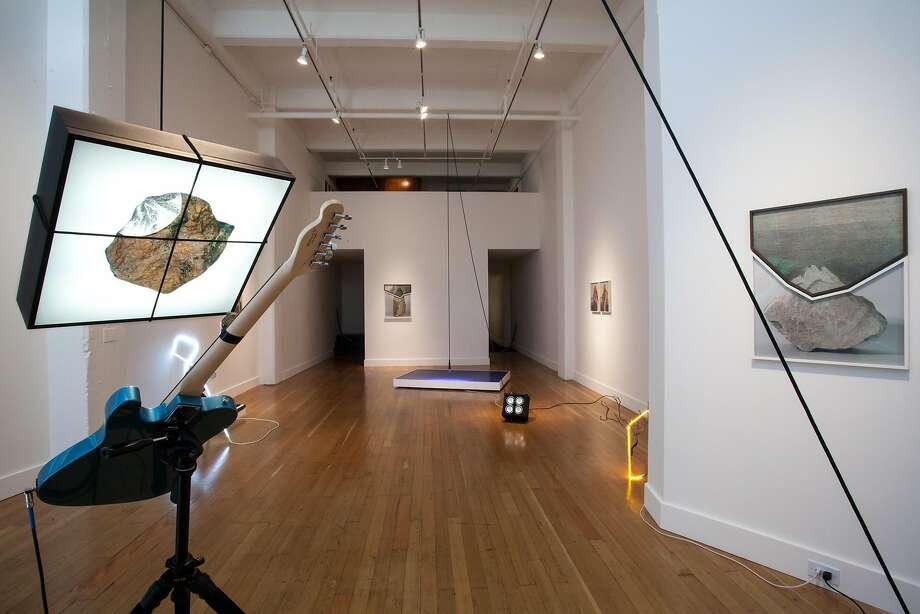 The Richard T. Walker exhibition at FraenkelLab includes this multimedia installation. Photo: Courtesy Jeffrey Fraenkel Gallery