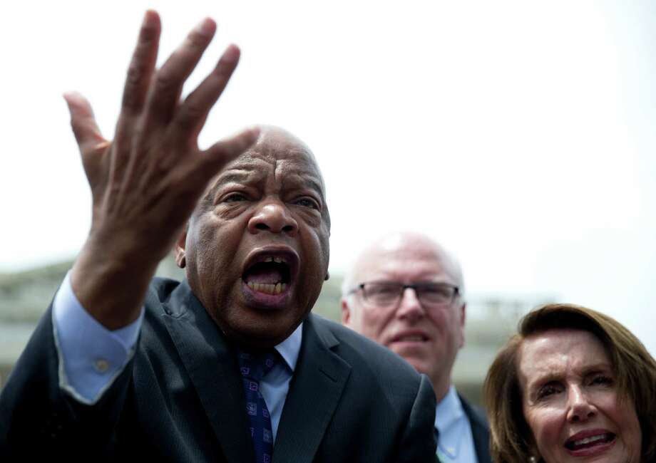 "The following politicians are boycotting Trump's inauguration:Rep. John Lewis (D-Ga)  Lewis said on ""Meet the Press"" that he doesn't think Trump's presidency is legitimate. Photo: Carolyn Kaster /Associated Press / Copyright 2016 The Associated Press. All rights reserved. This material may not be published, broadcast, rewritten or redistribu"
