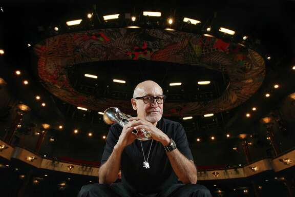 Noe Marmolejo, head of the University of Houston jazz studies program poses for a portrait in Moores Opera Center Friday, May 27, 2016, in Houston.   ( Steve Gonzales  / Houston Chronicle  )