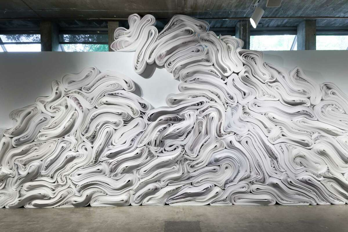 """A detail of Jae Ko's site-specific installation """"Flow,"""" which is on view at the Contemporary Arts Museum Houston through Sept. 18."""