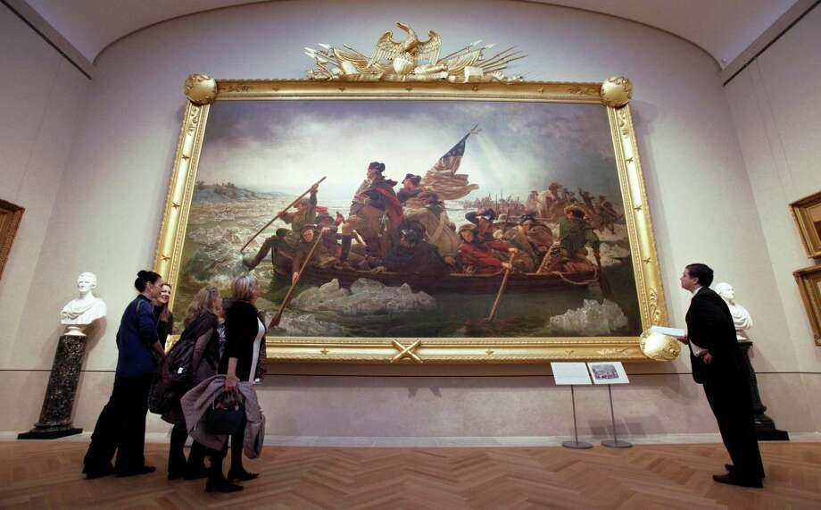 """People can enjoy """"Washington Crossing the Delaware"""" as a painting by Emanuel Gottlieb Leutze at the Metropolitan Museum of Art in New York, if not on the stage or big screen. Photo: Richard Drew, STF / AP2012"""