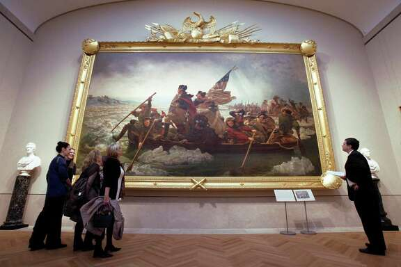 "People can enjoy ""Washington Crossing the Delaware"" as a painting by Emanuel Gottlieb Leutze at the Metropolitan Museum of Art in New York, if not on the stage or big screen."