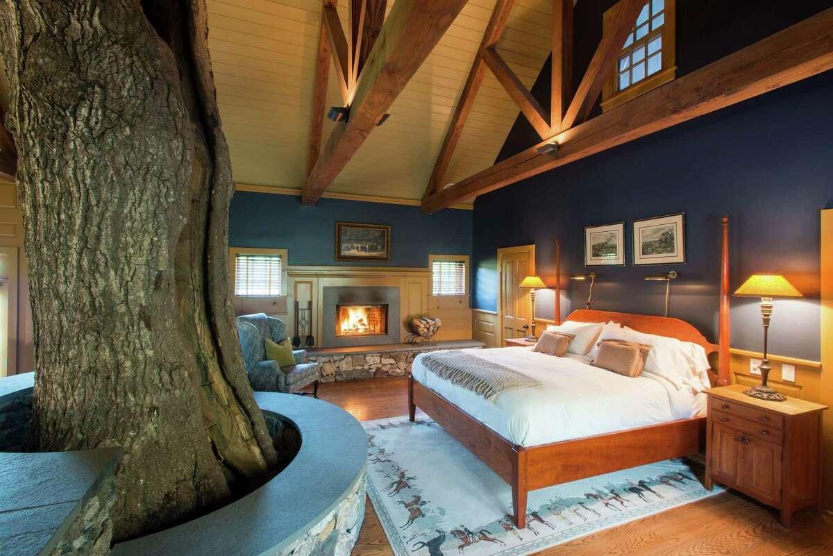 Charter Oak Cottage Bedroom at Winvian Farm in Morris.