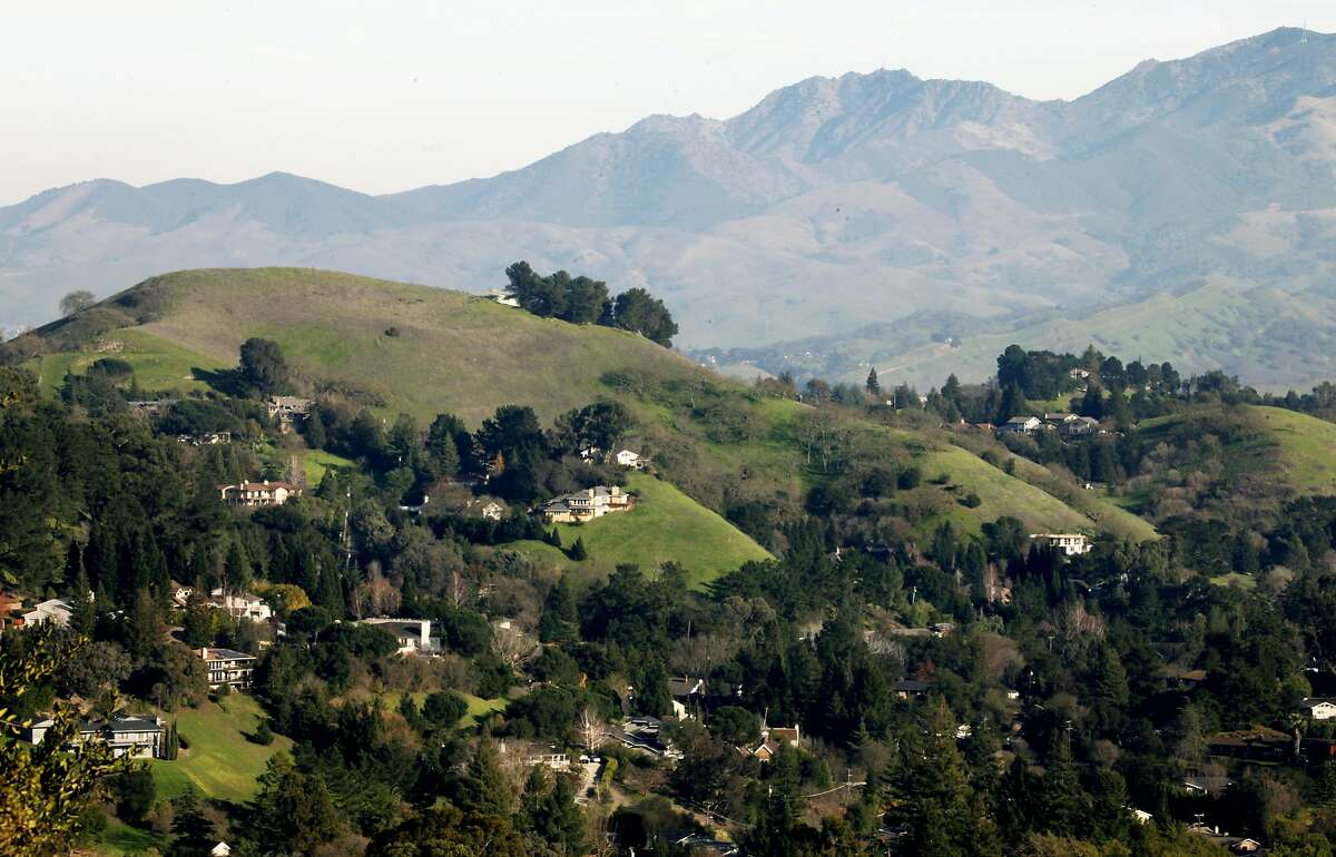 Executive size homes are nestled into the hills in Lafayette.