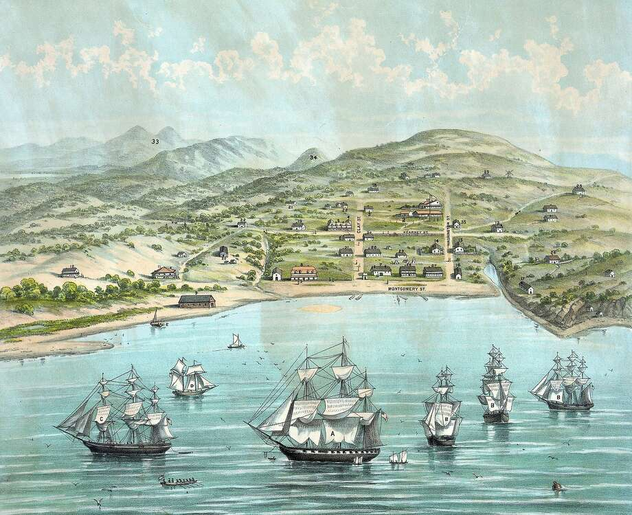 In the 1840s, San Francisco (formerly Yerba Buena) was little more than a sleepy seaside community. The discovery of gold at Sutter's Mill would change that dramatically. Photo: Universal History Archive, Getty Images