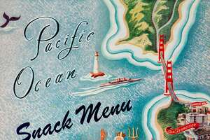 """USA - 1945: A menu for The Fairmont Hotel, Tonga Room reads """" Fairmont Hotel, Tonga Room Pacific Ocean Snack Menu"""" from 1945 in USA.  (Photo by Jim Heimann Collection/Getty Images)"""