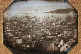 Historical view of San Francisco harbor; half-plate daguerreotype, 1851. Thought to be by the daguerrian photographer Sterling C McIntyre. (Photo by GraphicaArtis/Getty Images)