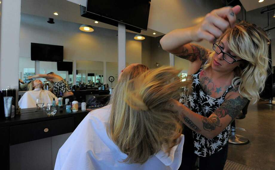 of Norwalk finishes up with Nikki Azzara at The Style Bar hair salon ...