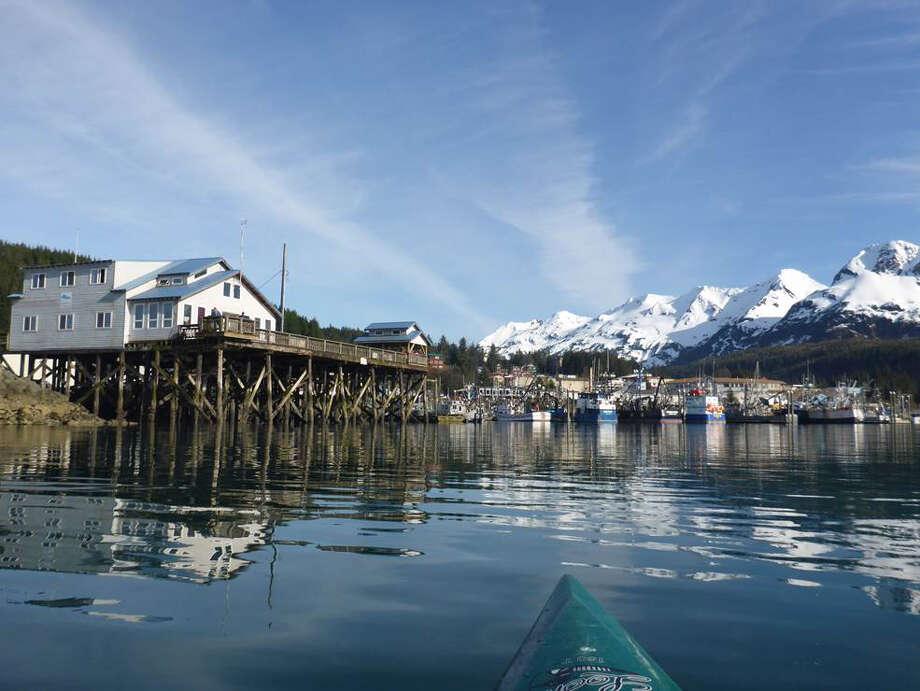 The fishing village of Cordova, Alaska, is three miles from Orca Lodge, Points North's heli-skiing base. Photo: Rachel Walker / For The Washington Post