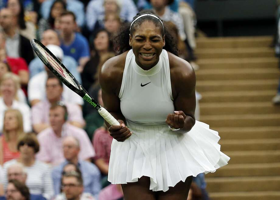 Serena Williams was upset with herself most of her match against Christina McHale, but ended up winning in three sets. Photo: Ben Curtis, Associated Press