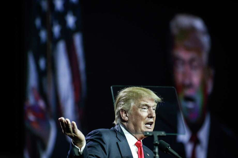 DENVER, CO - JULY 01: Presumptive Republican presidential candidate Donald Trump speaks at the 2016 Western Conservative Summit at the Colorado Convention Center on July 1, 2016 in Denver, Colorado. The Summit, being held July 1-3, is expected to attract more than 4,000 attendees. (Photo by Marc Piscotty/Getty Images) Photo: Marc Piscotty, Stringer / Getty Images / 2016 Getty Images