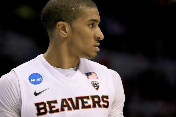 OKLAHOMA CITY, OKLAHOMA - MARCH 18:  Gary Payton II #1 of the Oregon State Beavers looks on while taking on the Virginia Commonwealth Rams in the second half in the first round of the 2016 NCAA Men's Basketball Tournament at Chesapeake Energy Arena on March 18, 2016 in Oklahoma City, Oklahoma.  (Photo by Tom Pennington/Getty Images)