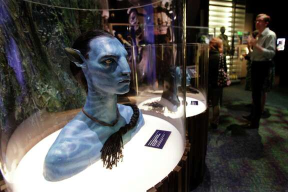 """A figure of Jake Sully's avatar character from the movie """"Avatar"""" is on display in 2011 at the Experience Music Project in Seattle."""
