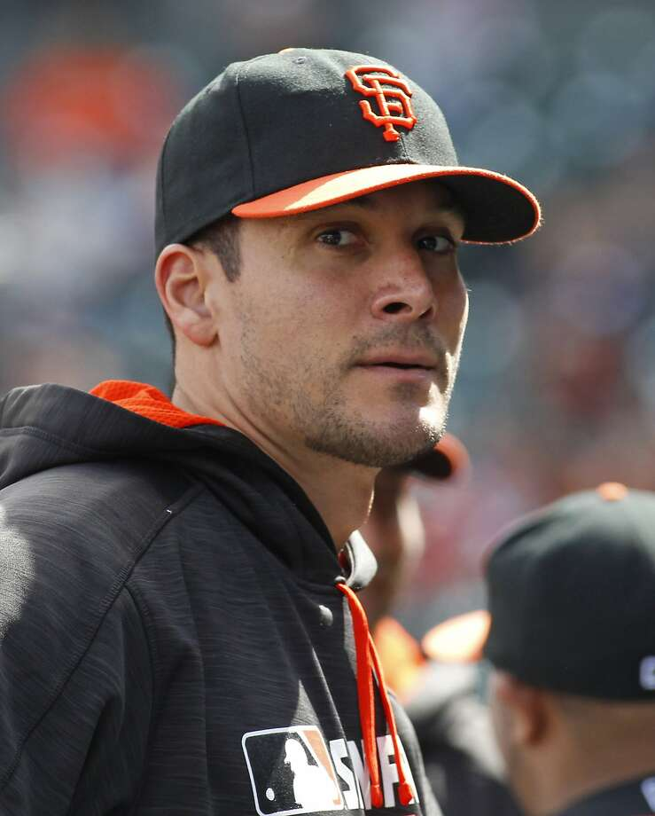 San Francisco Giants' Javier Lopez looks on before a baseball game against the Chicago Cubs, Saturday, May 21, 2016, in San Francisco. (AP Photo/George Nikitin) Photo: George Nikitin, Associated Press