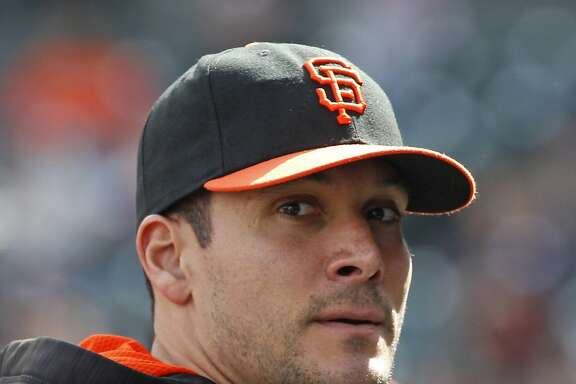 San Francisco Giants' Javier Lopez looks on before a baseball game against the Chicago Cubs, Saturday, May 21, 2016, in San Francisco. (AP Photo/George Nikitin)