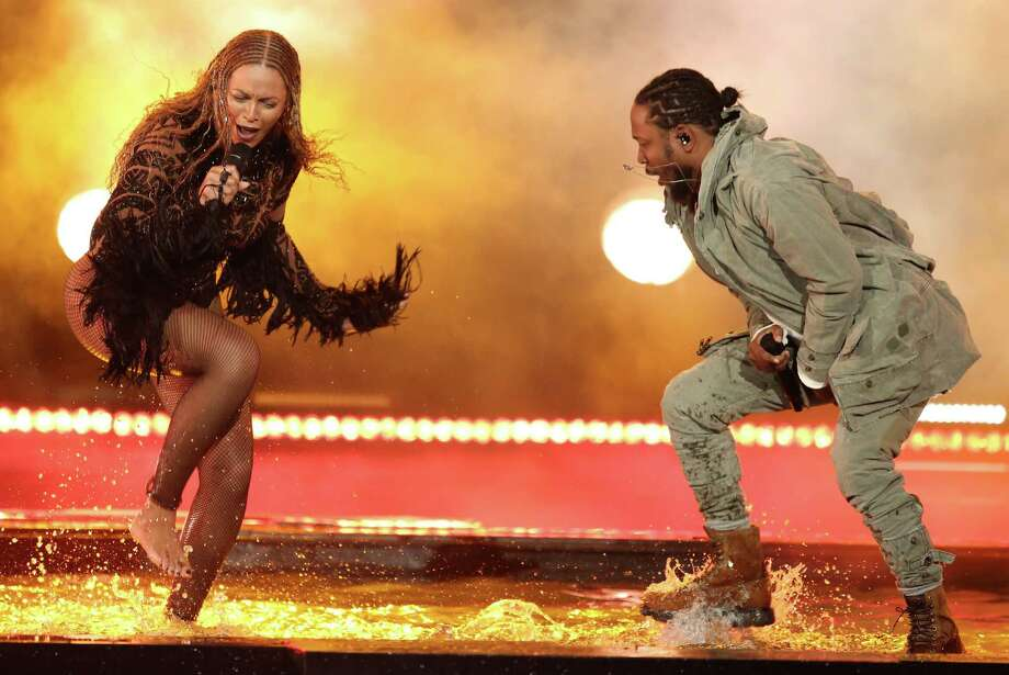 """Beyonce, left, and Kendrick Lamar perform """"Freedom"""" at the BET Awards at the Microsoft Theater on Sunday, June 26, 2016, in Los Angeles. (Photo by Matt Sayles/Invision/AP) Photo: Matt Sayles, INVL / Invision"""