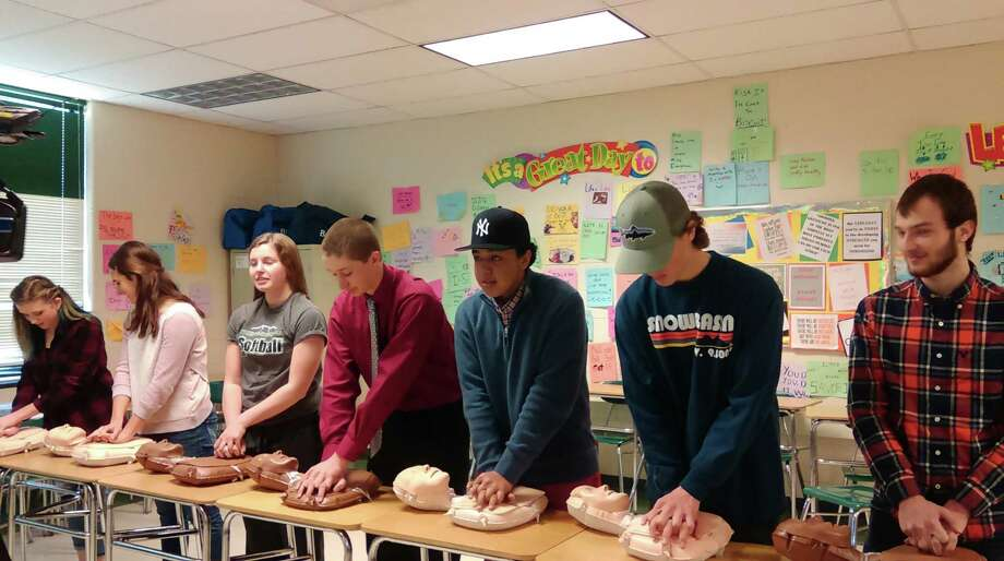This year's Class of 2016 is the first high school student class in New York State to have received hands-only CPR training as a result of the CPR in Schools Law, which went into effect this school year. The American Heart Association's You're the Cure grassroots volunteers helped make New York the 26th out of 34 states in the U.S. to pass the lifesaving legislation. Here, Shenendehowa students demonstrate the skills they've learned. (American Heart Association photo)