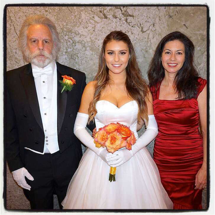 Grateful Dead guitarist Bob Weir (left) with his daughter, Shala, and wife, Natascha Weir, at CPMC's San Francisco Debutante Ball. June 2016.