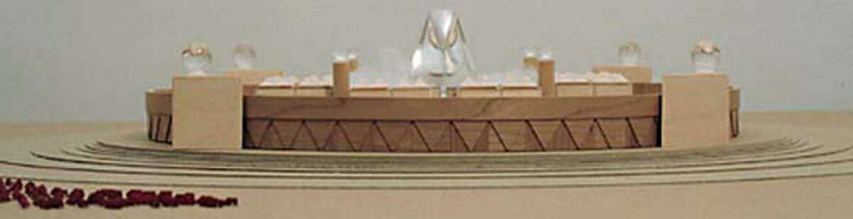 """Design model for """"Timeship,"""" which has been described as a """"Fort Knox"""" for cryopreservation."""