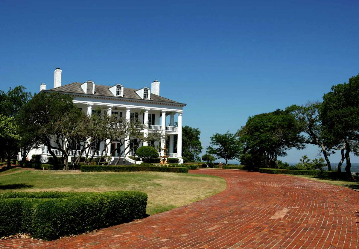 This 18,000-square-foot Antebellum-style mansion, as seen in this 2011 photo, is on 645 acres in Comfort owned by the Stasis Foundation. The nonprofit wants to build a cryonics castle.