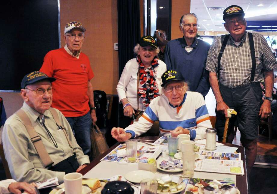 World War II veterans gather together during breakfast at the Gateway diner on Friday, July 1, 2016 in Albany, N.Y. This breakfast occurs every Friday morning to recognize all veterans.  (Eliza Mineaux/Special to the Times Union) Photo: Eliza Mineaux / 20037183A