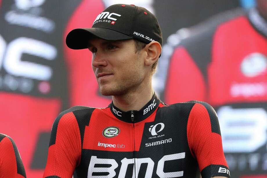 SAINTE-MERE-EGLISE, FRANCE - JUNE 30:  Tejay van Garderen of the United States, riding for BMC Racing Team stands on stage during the team presentation ahead of the 2016 Le Tour de France on June 30, 2016 in Sainte-Mere-Eglise, France.  (Photo by Chris Graythen/Getty Images) ORG XMIT: 651321229 Photo: Chris Graythen / 2016 Getty Images