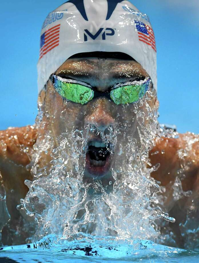 Michael Phelps finished his winning 200-meter individual medley run in 1:55.91 in Omaha, Neb. Photo: Mark J. Terrill, STF / Copyright 2016 The Associated Press. All rights reserved. This material may not be published, broadcast, rewritten or redistribu