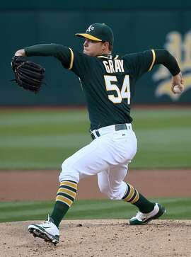 OAKLAND, CA - JULY 01:  Sonny Gray #54 of the Oakland Athletics pitches against the Pittsburgh Pirates in the top of the first inning at O.co Coliseum on July 1, 2016 in Oakland, California.  (Photo by Thearon W. Henderson/Getty Images)
