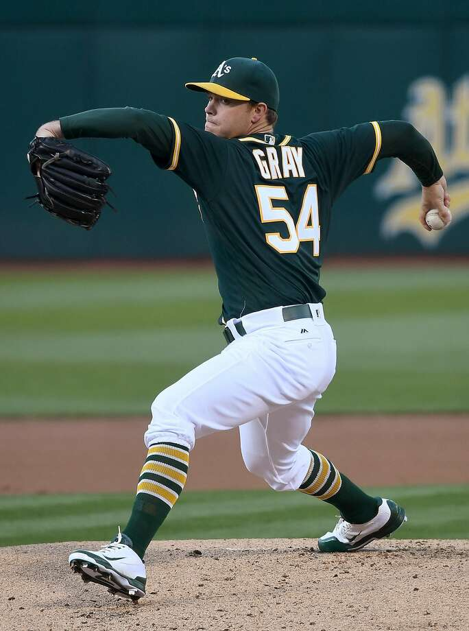OAKLAND, CA - JULY 01:  Sonny Gray #54 of the Oakland Athletics pitches against the Pittsburgh Pirates in the top of the first inning at O.co Coliseum on July 1, 2016 in Oakland, California.  (Photo by Thearon W. Henderson/Getty Images) Photo: Thearon W. Henderson, Getty Images