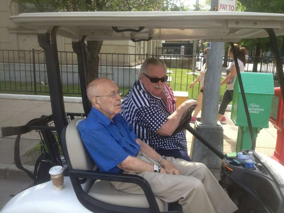 50th Annual Troy Flag Day Parade will be dedicated to honor the late Joseph Killeen, long-time parade leader, who died in June at the age of 90. A US Navy veteran of World War II, was involved since the parade's inception. Joe Killeen and Jerry Weaver at the 49th Annual Flag Day Parade (June 12, 2016).