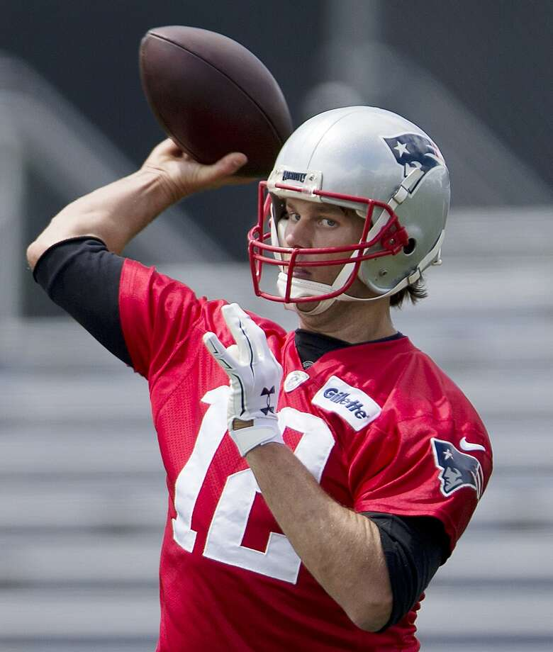 New England Patriots quarterback Tom Brady (12) passes during an NFL football practice Monday, June 13, 2016, in Foxborough, Mass. (AP Photo/Michael Dwyer) Photo: Michael Dwyer, Associated Press