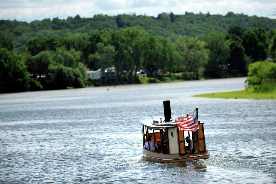 The Sayonara chugs out for a ride at the confluence of the Hudson and Mohawk rivers during the Waterford Steamboat Meet on Saturday, July 2, 2016, at the Waterford Harbor Visitor Center in Waterford, N.Y. (Cindy Schultz / Times Union) Photo: Cindy Schultz / Albany Times Union