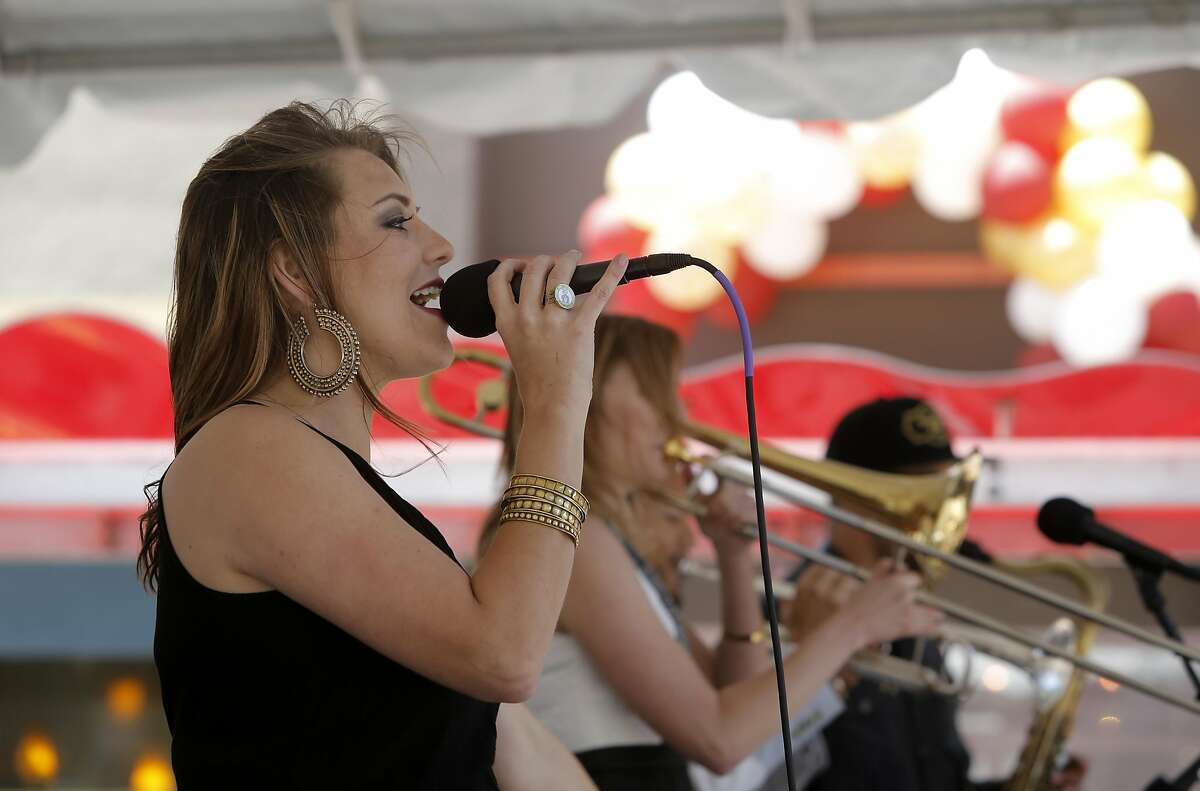 Lilan Kane performs at the Fillmore Jazz Festival on Sat. July 2, 2016, in San Francisco, California.