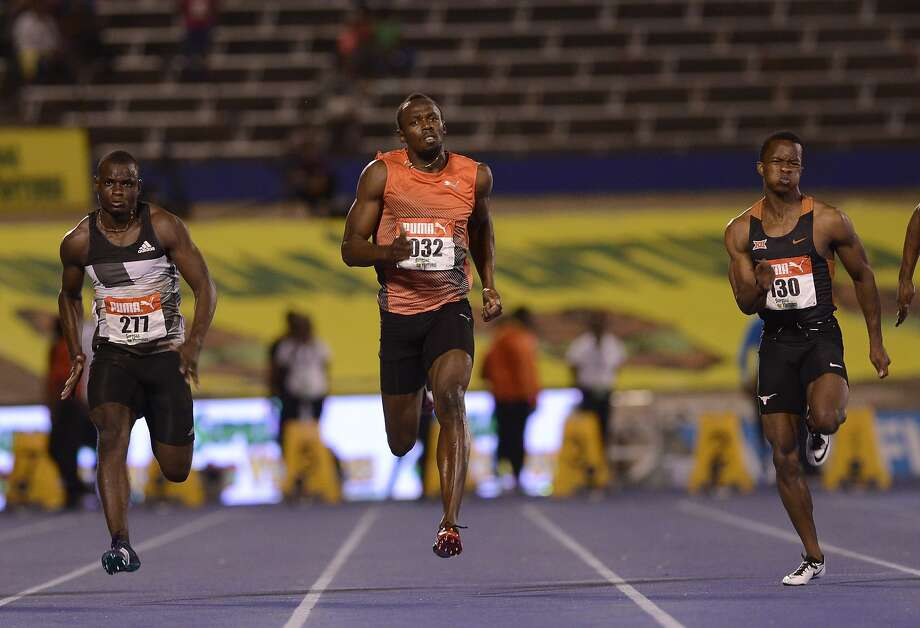 Usain Bolt won a semifinal heat of the 100 meters at Jamaica's Olympic trials Friday, but skipped the final due to an injury. Photo: RICARDO MAKYN, AFP/Getty Images