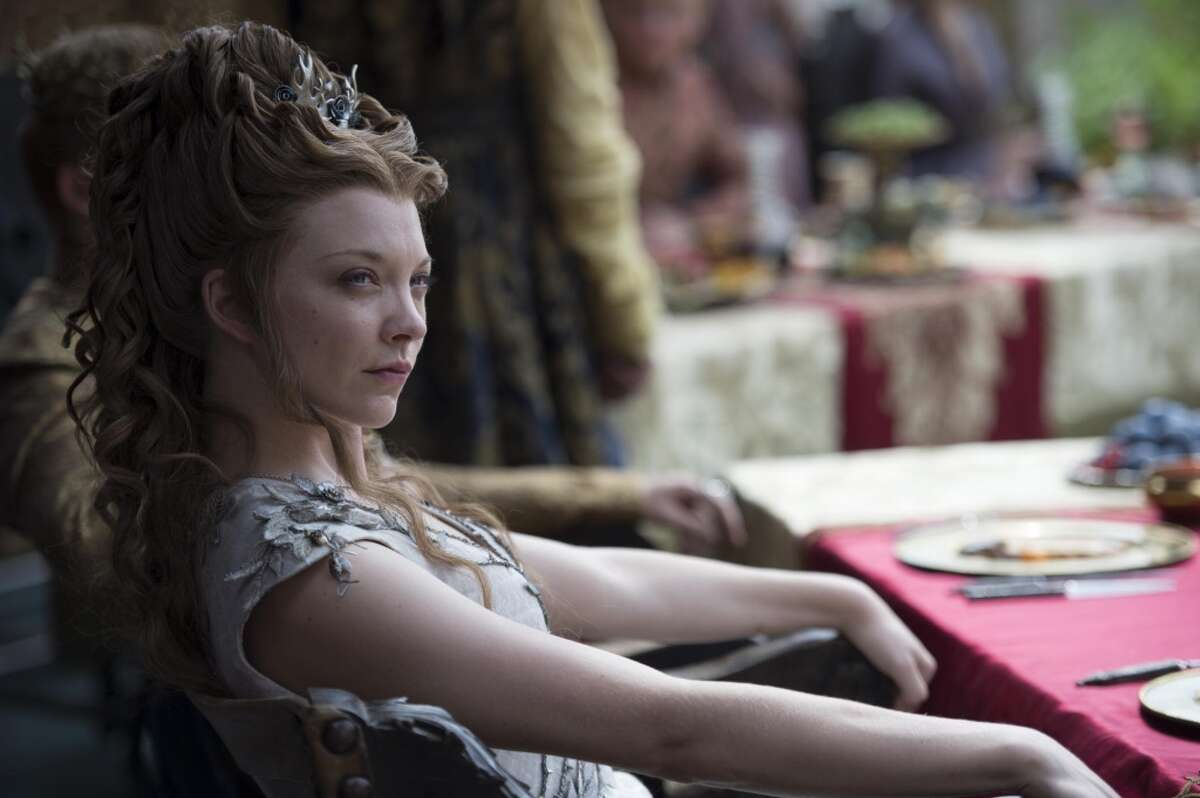MARGAERY BARATHEON On the show, the beautiful Queen died in the Great Sept when Cersei blew it up with wildfire on the show, but in the books, she's just been released by the Faith Militant to her cousin to await her trial.