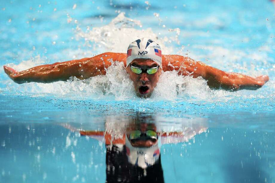 OMAHA, NE - JULY 02:  Michael Phelps of the United States competes in the final heat for the Men's 100 Meter Butterfly during Day Seven of the 2016 U.S. Olympic Team Swimming Trials at CenturyLink Center on July 2, 2016 in Omaha, Nebraska.  (Photo by Tom Pennington/Getty Images) ORG XMIT: 606595493 Photo: Tom Pennington / 2016 Getty Images