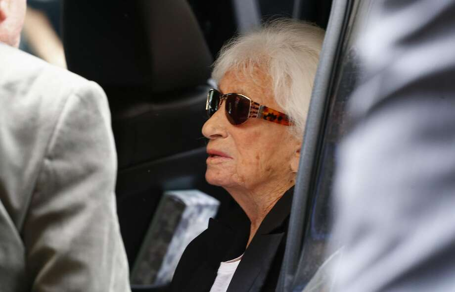Marion Wiesel, widow of Nobel laureate Elie Wiesel, departs after funeral services for her husband in New York. Photo: KENA BETANCUR, AFP/Getty Images