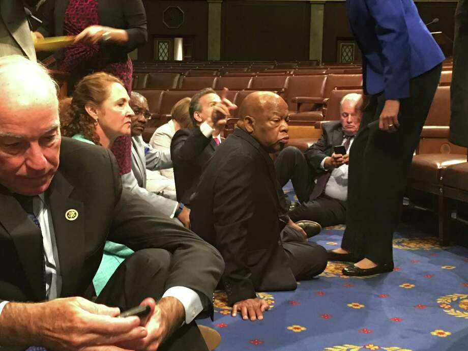 The live-streaming of Democratic lawmakers' House sit-in stemmed from their demands for a vote on gun legislation. But it also highlighted Congress' continuing resistance to the onslaught of modern digital communications. Photo: Associated Press / Rep.John Yarmuth