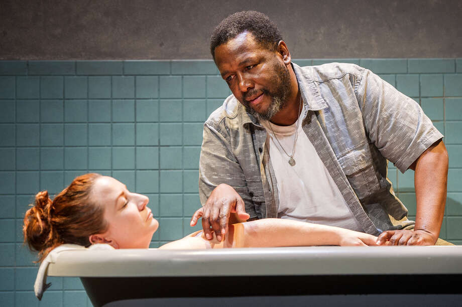"Katy Sullivan and Wendell Pierce in ""Cost of Living"" in Williamstown. (WTF publicity phopto by Daniel Rader.)"