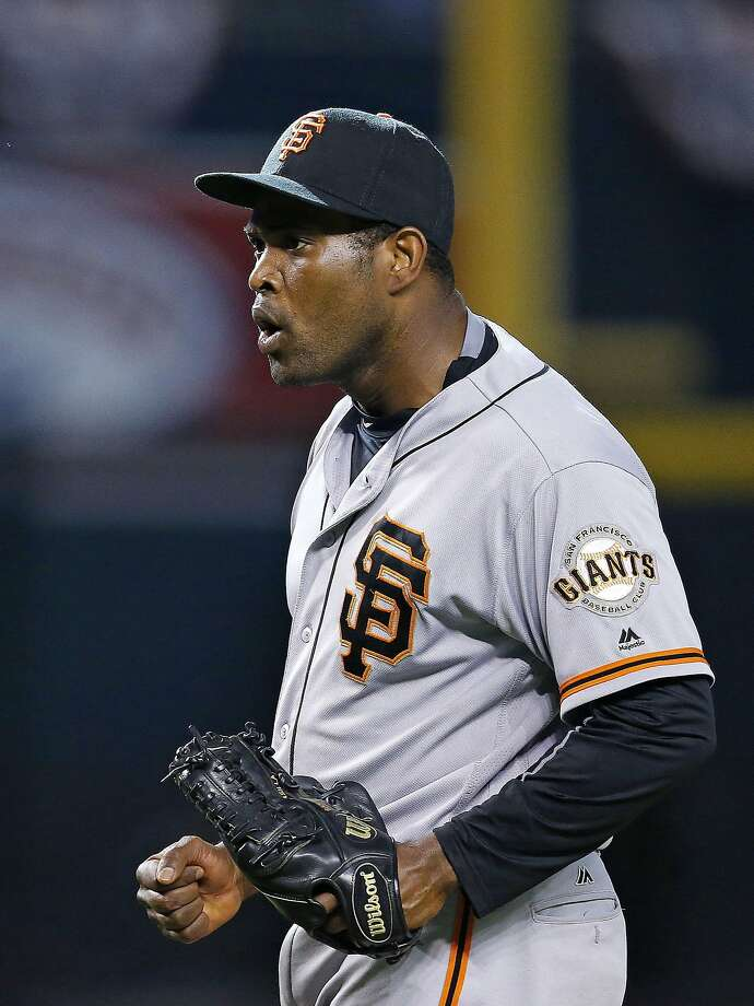 San Francisco Giants' Santiago Casilla shouts as he celebrates the final out against the Arizona Diamondbacks during the 11th inning of a baseball game Sunday, July 3, 2016, in Phoenix. The Giants defeated the Diamondbacks 5-4. (AP Photo/Ross D. Franklin) Photo: Ross D. Franklin, Associated Press