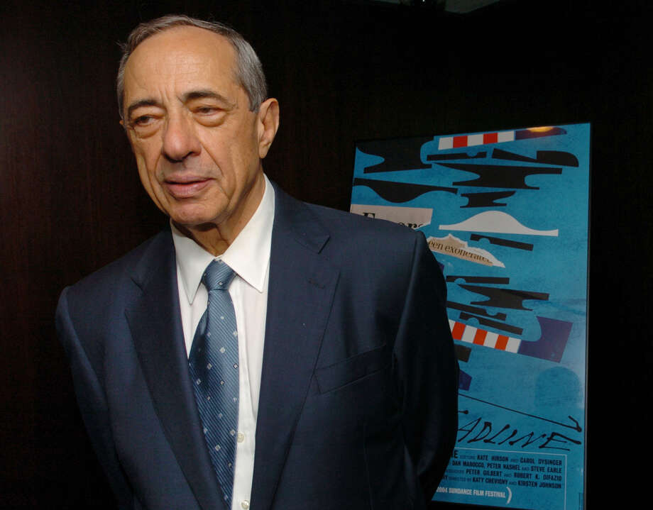 """Former New York Gov. Mario Cuomo arrives at the  private screening of the documentary film """" Deadline"""", Thursday, July 22, 2004, in New York. Cuomo, who brought the 1984 Democratic National Convention in San Francisco to its feet with an impassioned keynote address won't be speaking at this year's edition that opened Monday in Boston. (AP Photo/Louis Lanzano) Photo: LOUIS LANZANO / AP"""
